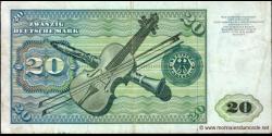 République - Fédérale - Allemagne - p32c - 20Deutsche Mark - 02.01.1980 - Deutsche Bundesbank