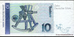 République - Fédérale - Allemagne - p38c - 10Deutsche Mark - 01.10.1993 - Deutsche Bundesbank