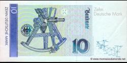 République - Fédérale - Allemagne - p38d - 10Deutsche Mark - 01.09.1999 - Deutsche Bundesbank