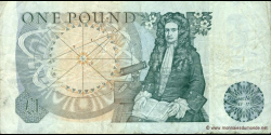 Angleterre - p377a - 1 Pound - ND (1978 - 1984) - Bank of England