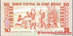 guinée-bissau - p10 - 50 pesos - 01.03.1990 - Banco Nacional da Guiné - Bissau