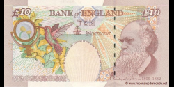 Angleterre - p389c - 10 Pounds - © 2000 - Bank of England