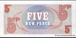 British - Armed - Forces - pM47 - 5 New Pence - ND (1972) - British Armed Forces / Defence Council
