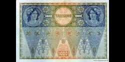 Autriche - p061b - 1.000 Kronen - 02.01.1902 (1919) - Oesterreichisch - ungarische Bank
