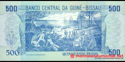 guinée-bissau - p12 - 500 pesos - 01.03.1990 - Banco Nacional da Guiné - Bissau