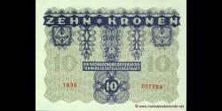 Autriche - p075 - 10 Kronen - 02.01.1922 - Oesterreichisch - ungarische Bank, Osterreichische Geschäftsführung