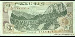 Autriche - p142a - 20 Schilling - 02.07.1967 - Oesterreichische Nationalbank