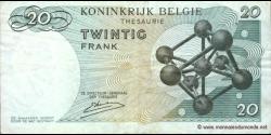 Belgique - p138c - 20 Francs / Frank - 15.06.1964 - Royaume de Belgique - Trésorerie / Koninkrijk Belgie - Thesaurie