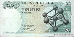 Belgique - p138a - 20 Francs / Frank - 15.06.1964 - Royaume de Belgique - Trésorerie / Koninkrijk Belgie - Thesaurie