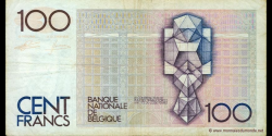 Belgique - p142e - 100 Francs / Frank - ND (1982 - 1994) - Banque Nationale de Belgique / Nationale Bank van Belgie