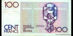 Belgique - p142f - 100 Francs / Frank - ND (1982 - 1994) - Banque Nationale de Belgique / Nationale Bank van Belgie