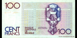 Belgique - p142g - 100 Francs / Frank - ND (1982 - 1994) - Banque Nationale de Belgique / Nationale Bank van Belgie