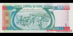 guinée-bissau - p15b - 10 000 pesos - 01.03.1993 - Banco Nacional da Guiné - Bissau