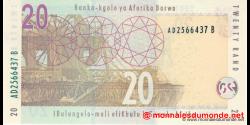 afrique du sud - p129b - 20 rand - ND (2009) - South African Reserve Bank / Banka - kgolo ya Aforika Borwa / IBulungelo - mali