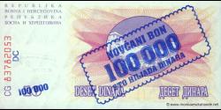 Bosnie Herzégovine - p034b - 100.000 Dinara - 10.11.1993 - Narodna Banka Bosne i Hercegovine