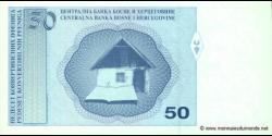 Bosnie Herzégovine - p058 - 50 Konvertibilnih Pfeniga - ND (1998) - Centralna Banka Bosne i Hercegovine