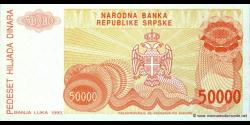 Bosnie Herzégovine - p150 - 50.000 Dinara - 1993 - Narodna Banka Republike Srpske