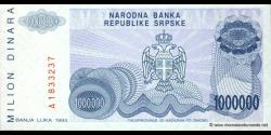 Bosnie Herzégovine - p152 - 1.000.000 Dinara - 1993 - Narodna Banka Republike Srpske