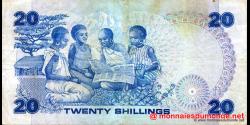 Kenya - p21b - 20 shilingi - 01.01.1982 - Banki Kuu ya Kenya / Central Bank of Kenya
