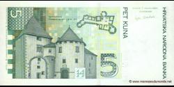 Croatie - p37 - 5 Kuna - 07.03.2001 - Hrvatska Narodna Banka