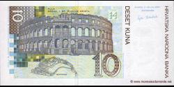 Croatie - p38a - 10 Kuna - 07.03.2001 - Hrvatska Narodna Banka