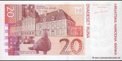 Croatie - p39a - 20 Kuna - 07.03.2001 - Hrvatska Narodna Banka