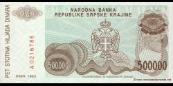 Croatie - pR23 - 500.000 Dinara - 1993 - Narodna Banka Republike Srpske Krajin