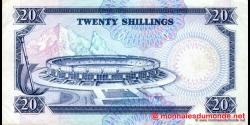 Kenya - p25d - 20 shilingi - 01.07.1991 - Banki Kuu ya Kenya / Central Bank of Kenya