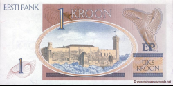 Estonie - p69 - 1 Kroon - 1992 - Eesti Pank