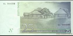 Estonie - p87b - 25Krooni - 2007 - Eesti Pank