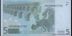 Europe - p08U - 5 Euros - 2002 - Banque Centrale Européenne