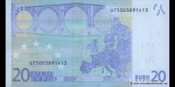 Europe - p10U - 20Euros - 2002 - Banque Centrale Européenne
