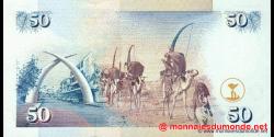Kenya - p36g - 50 shilingi - 01.07.2002 - Banki Kuu ya Kenya / Central Bank of Kenya
