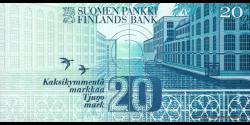 Finlande - p123c - 20Markka / Mark - 1993 - Suomen Pankki / Finlands Bank