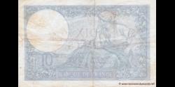 France - p084 - 10 Francs - 05.12.1940 - Banque de France