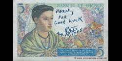 France - p098a - 5 Francs - 25.11.1943 - Banque de France
