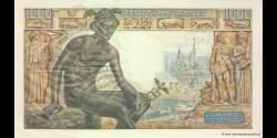 France - p102a - 1.000 Francs - 28.01.1943 - Banque de France