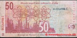 afrique du sud - p130a - 50 rand - ND (2005) - South African Reserve Bank / Banka - kgolo ya Aforika Borwa / IBulungelo - mali