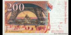 France - p159c - 200 Francs - 1999 - Banque de France