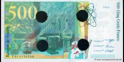 France - p160a - 500 Francs - 1994 - Banque de France