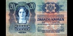 Hongrie - p013a - 20 Kronen - 02.01.1913 - Oesterreichisch - ungarische Bank / Osztrák - magyar Bank