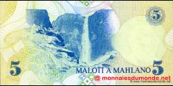 Lesotho - p10 - 5 Maloti - 1989 - Central Bank of Lesotho