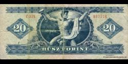 Hongrie - p169g - 20 Forint - 30.09.1980 - Magyar Nemzeti Bank