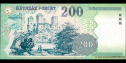 Hongrie - p178 - 200 Forint - 1998 - Magyar Nemzeti Bank