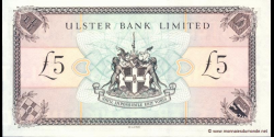 Irlande du Nord - p335b - 5 Pounds - 01.07.1998 - Ulster Bank Limited