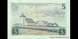 Islande - p37a - 5 Krónur - L. 21.06.1957 - Landsbanki Íslands - Seðlabankinn