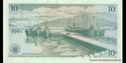Islande - p42b - 10Krónur - L. 29.03.1961 - Seðlabanki Íslands