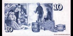 Islande - p48a2 - 10Krónur - L. 29.03.1961 (1981 - 1986) - Seðlabanki Íslands