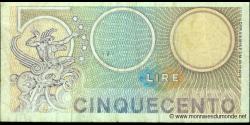 Italie - p095 - 500 Lire - 20.12.1976 - Repubblica Italiana