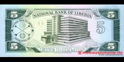 Libéria - p20 - 5 dollars - 06.04.1991 - National Bank of Liberia